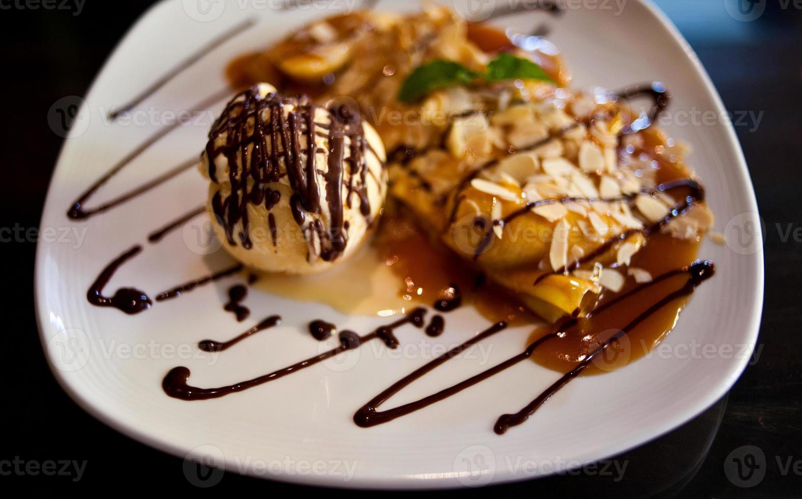 gelato e banana foto