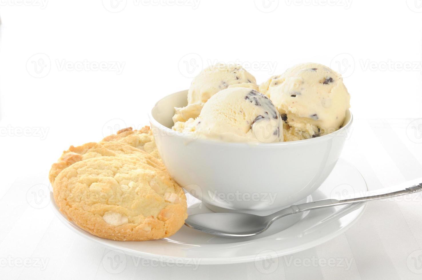 gelato e biscotti foto