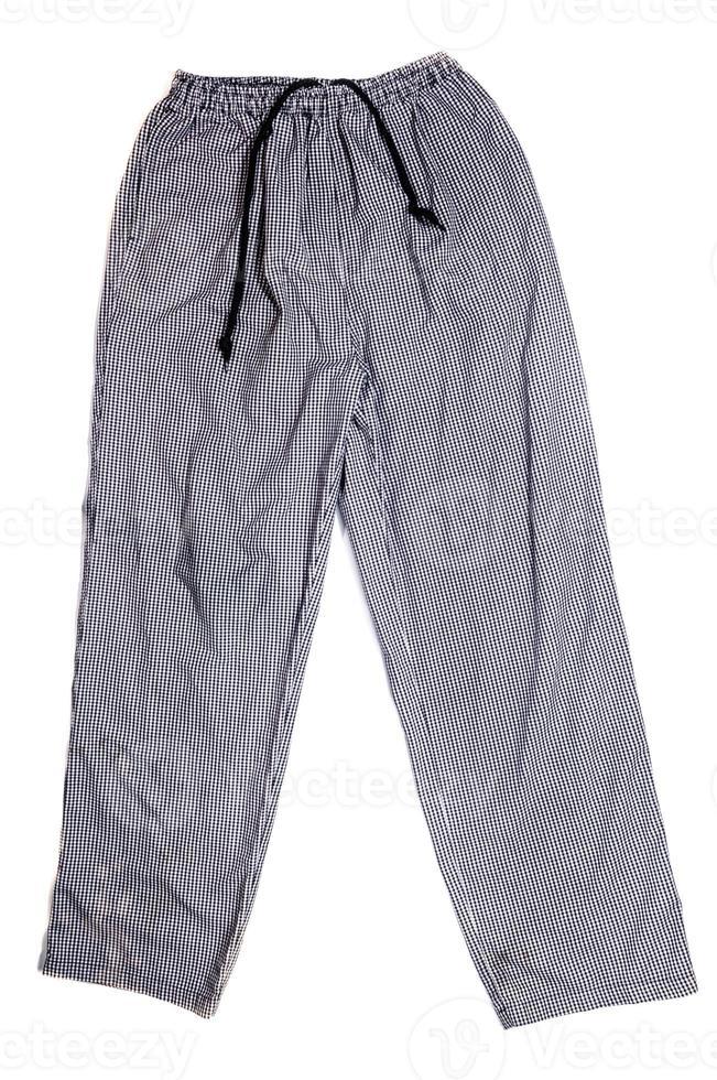 pantaloni a quadri da chef foto