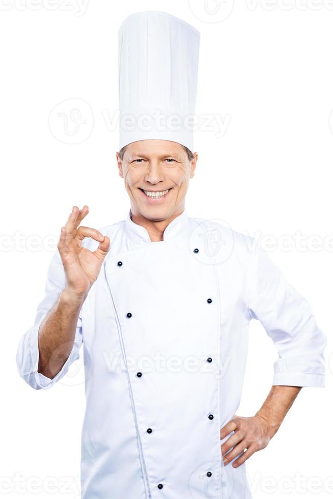 chef fiducioso. foto
