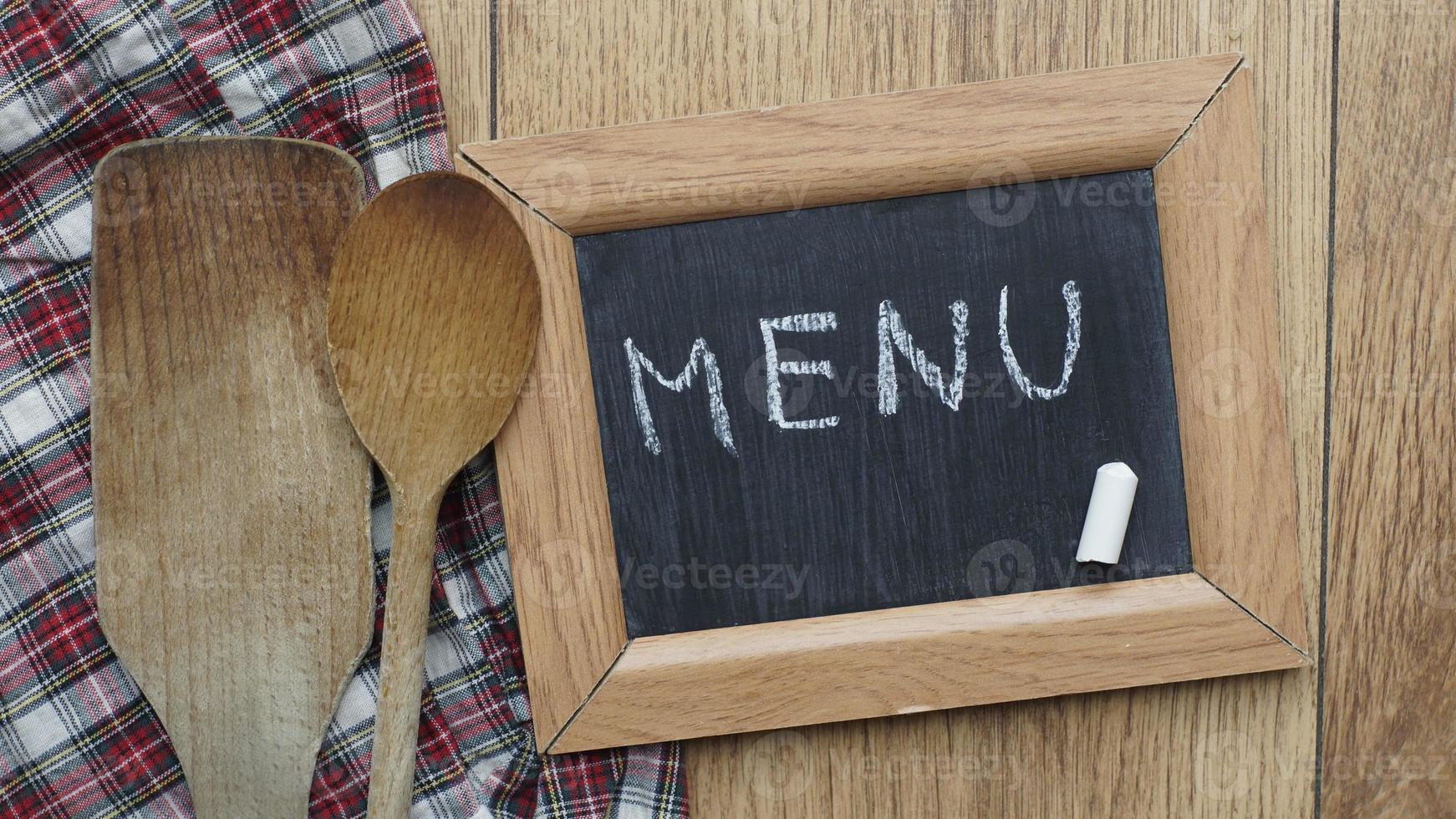 menu scritto foto