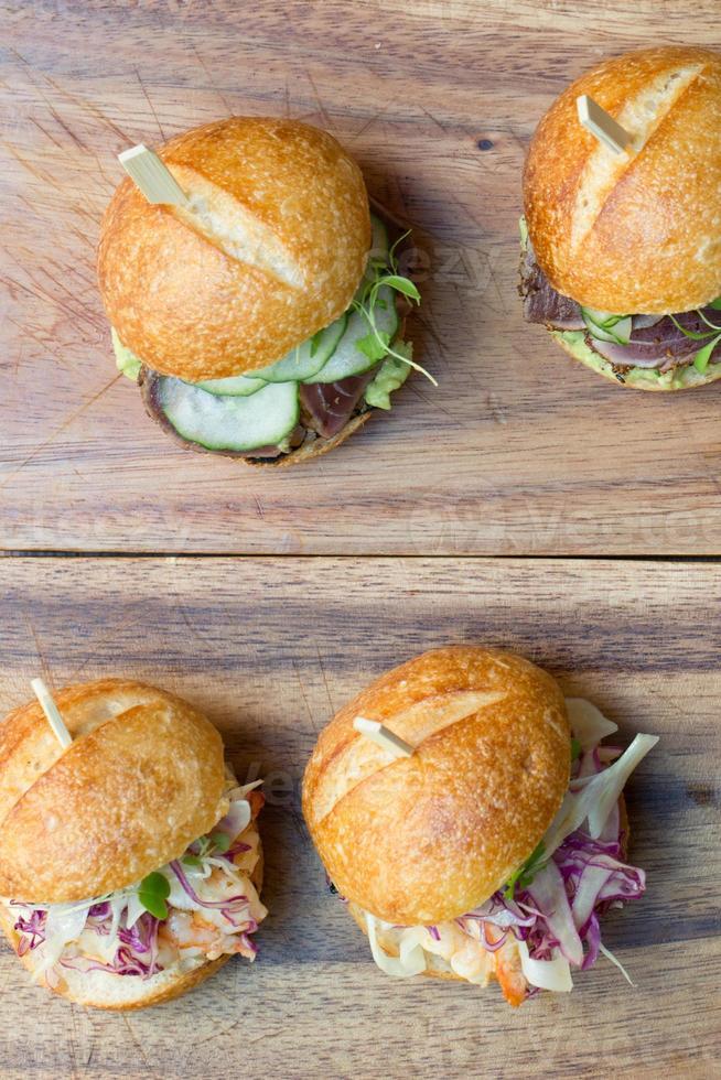 cursori di hamburger foto