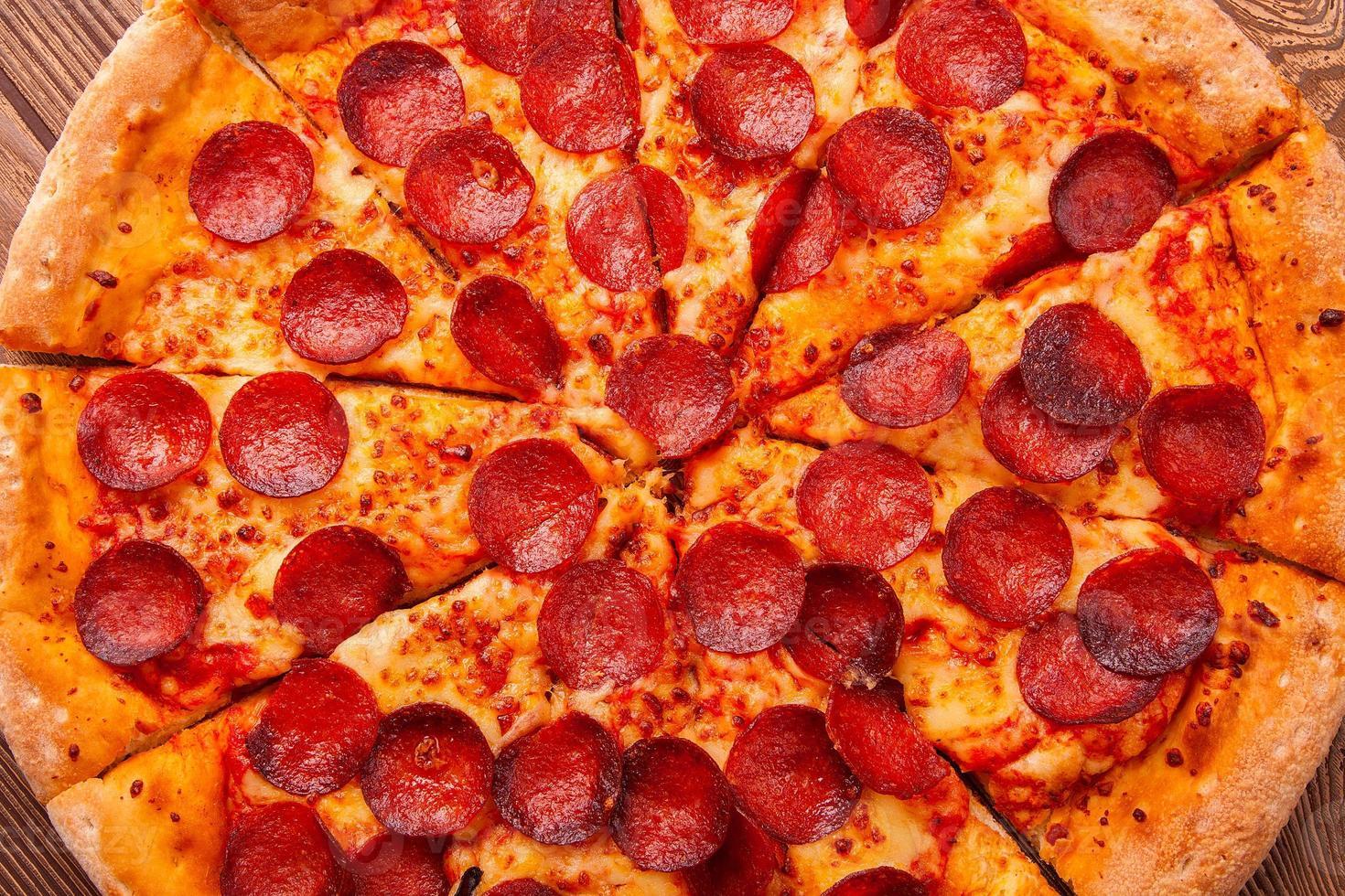 deliziosa pizza fresca foto