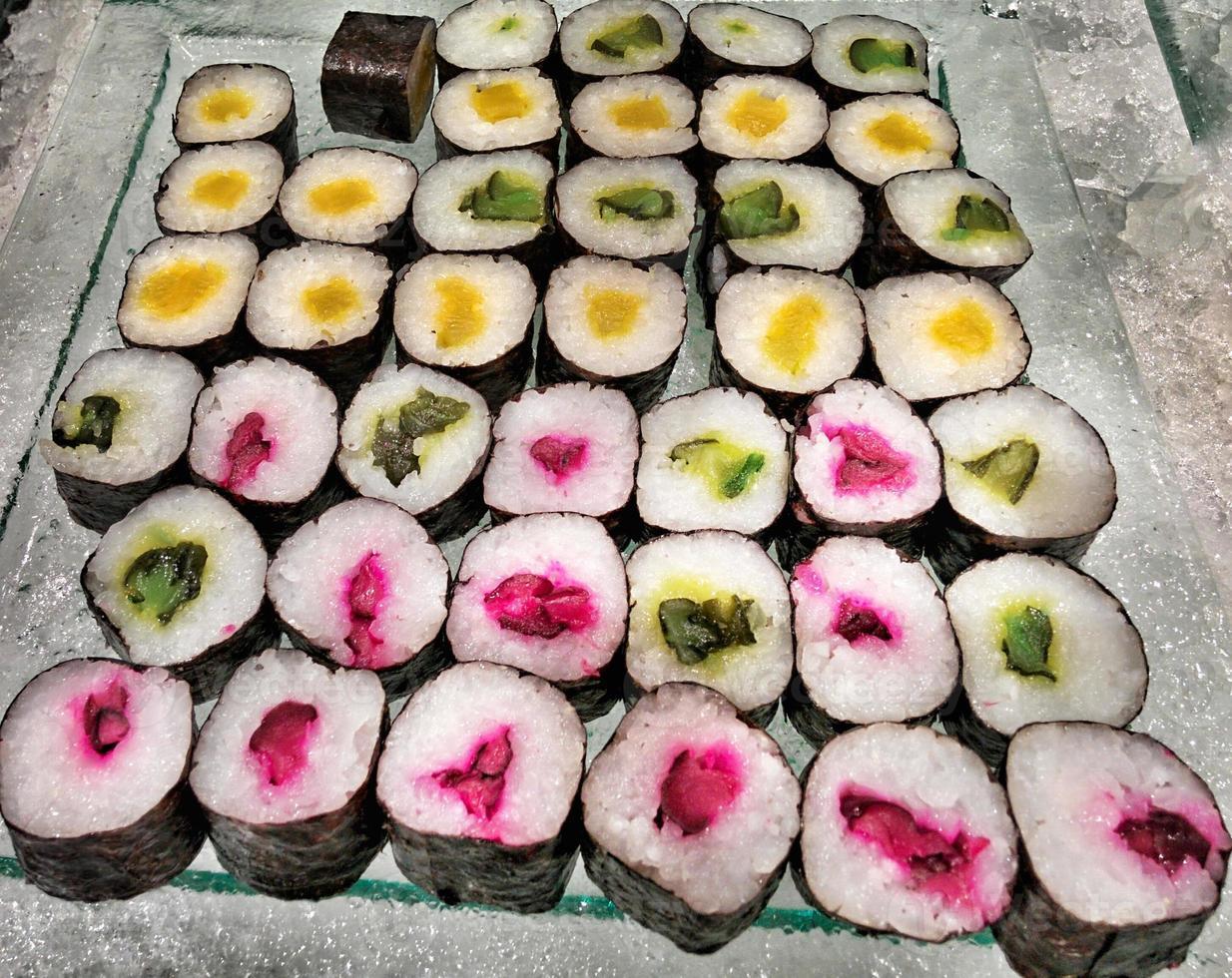 sfondo di sushi maki foto