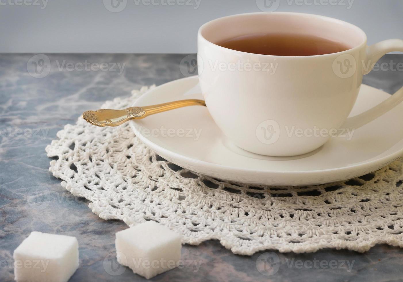 mattina tazza di tè foto