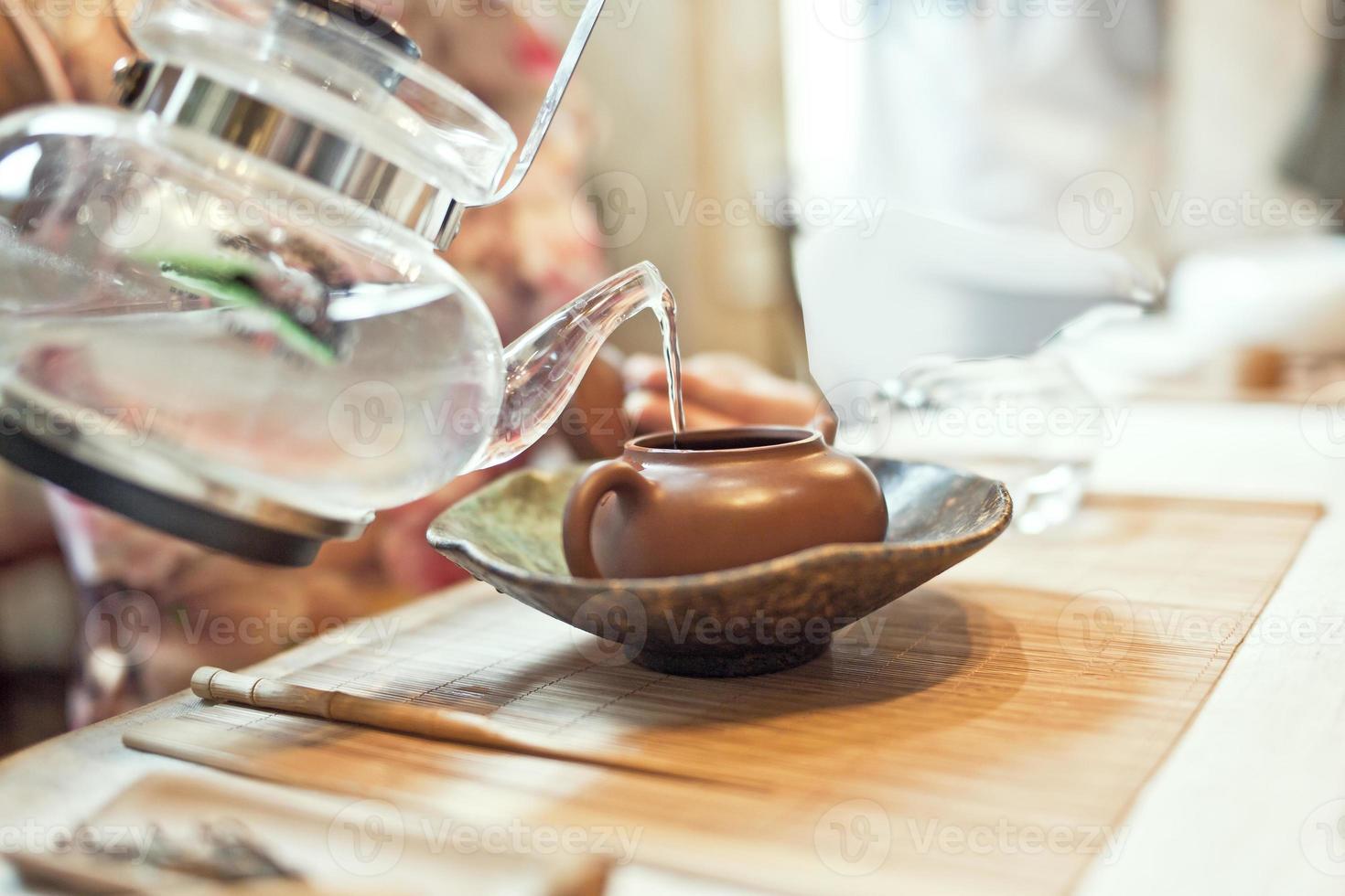 la cerimonia del tè cinese foto