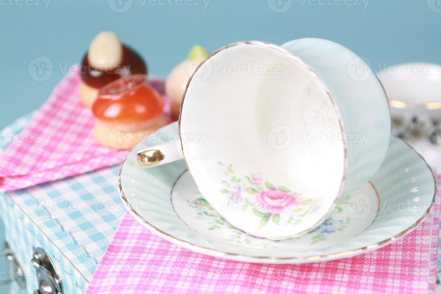 copertura del tè foto
