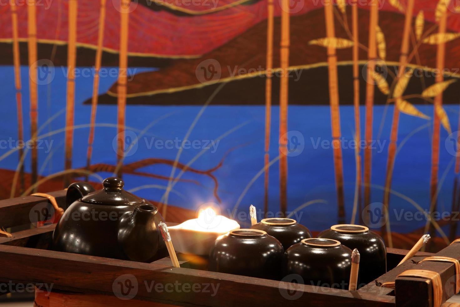 set di cerimonia del tè cinese foto