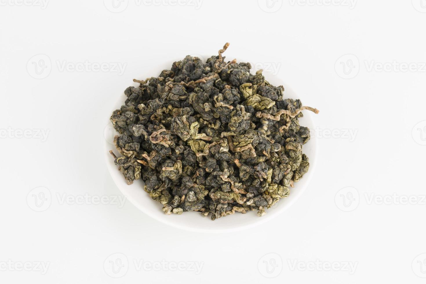 tè verde secco. foto