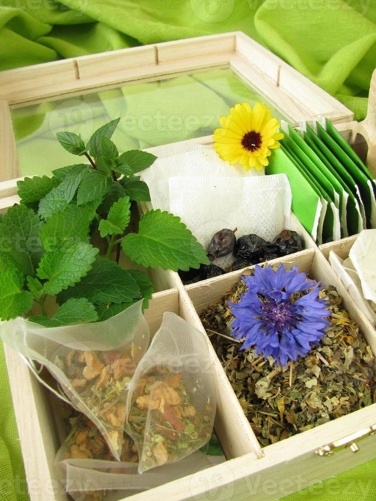 varietà di tè foto