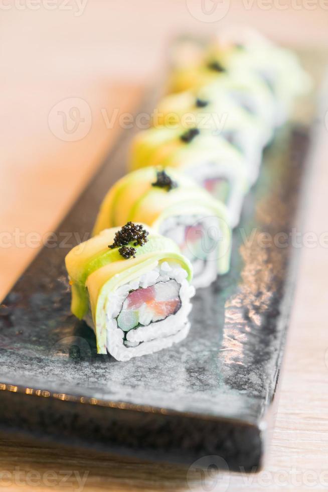 sushi di avocado foto