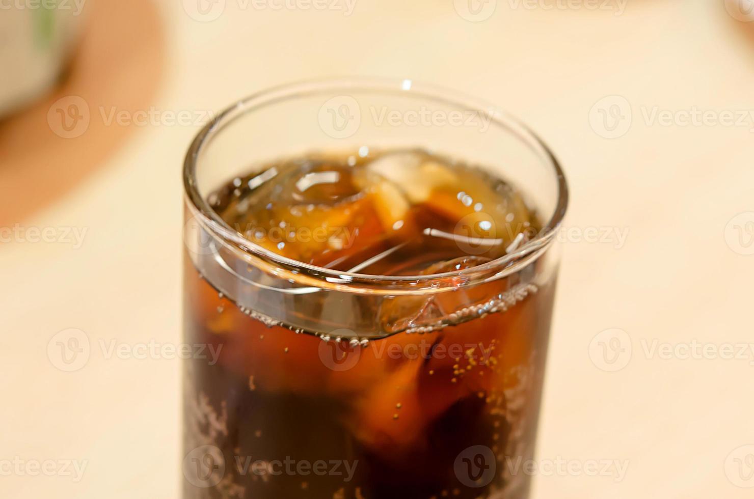 bicchiere di cola foto