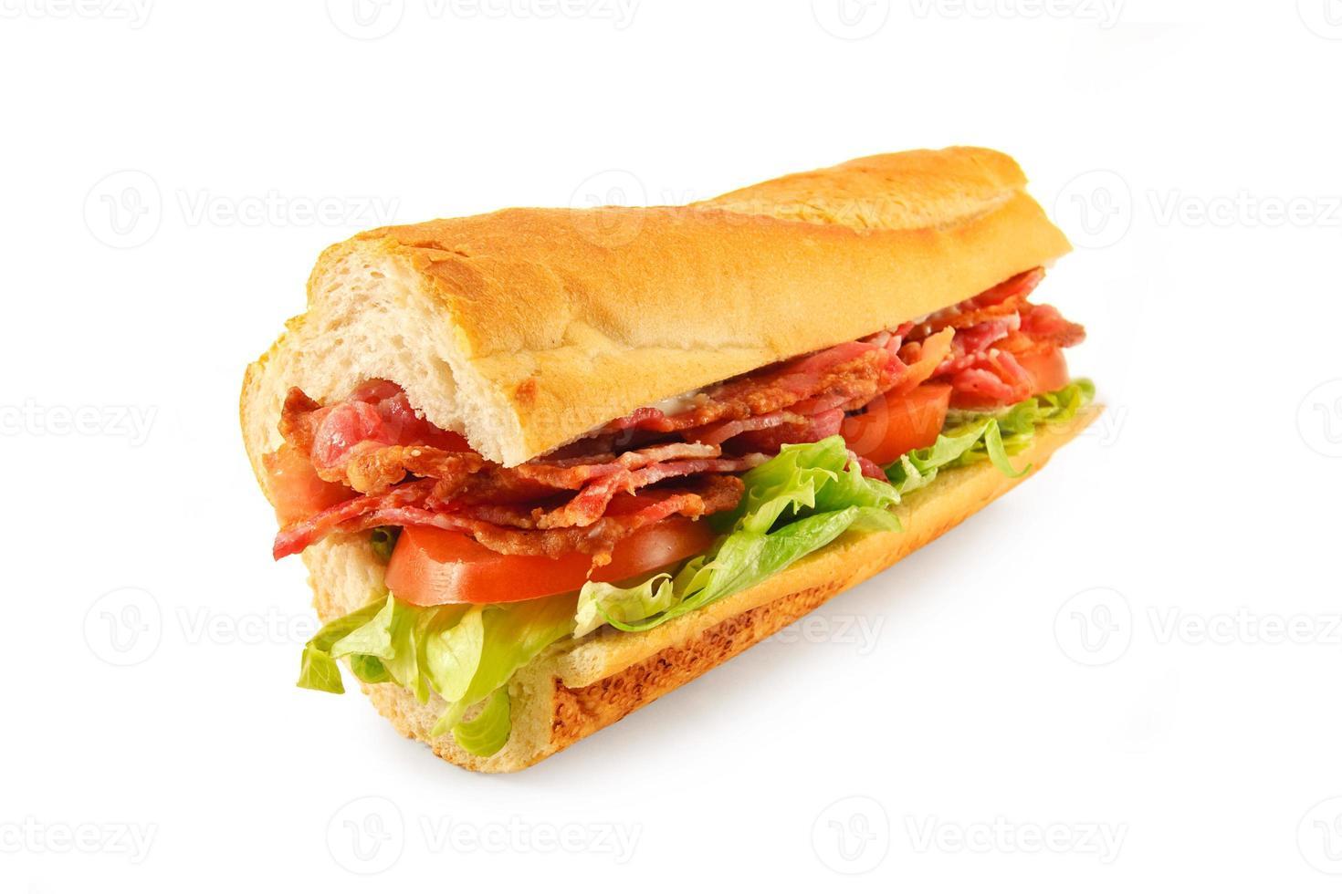 baguette di blt sandwich foto