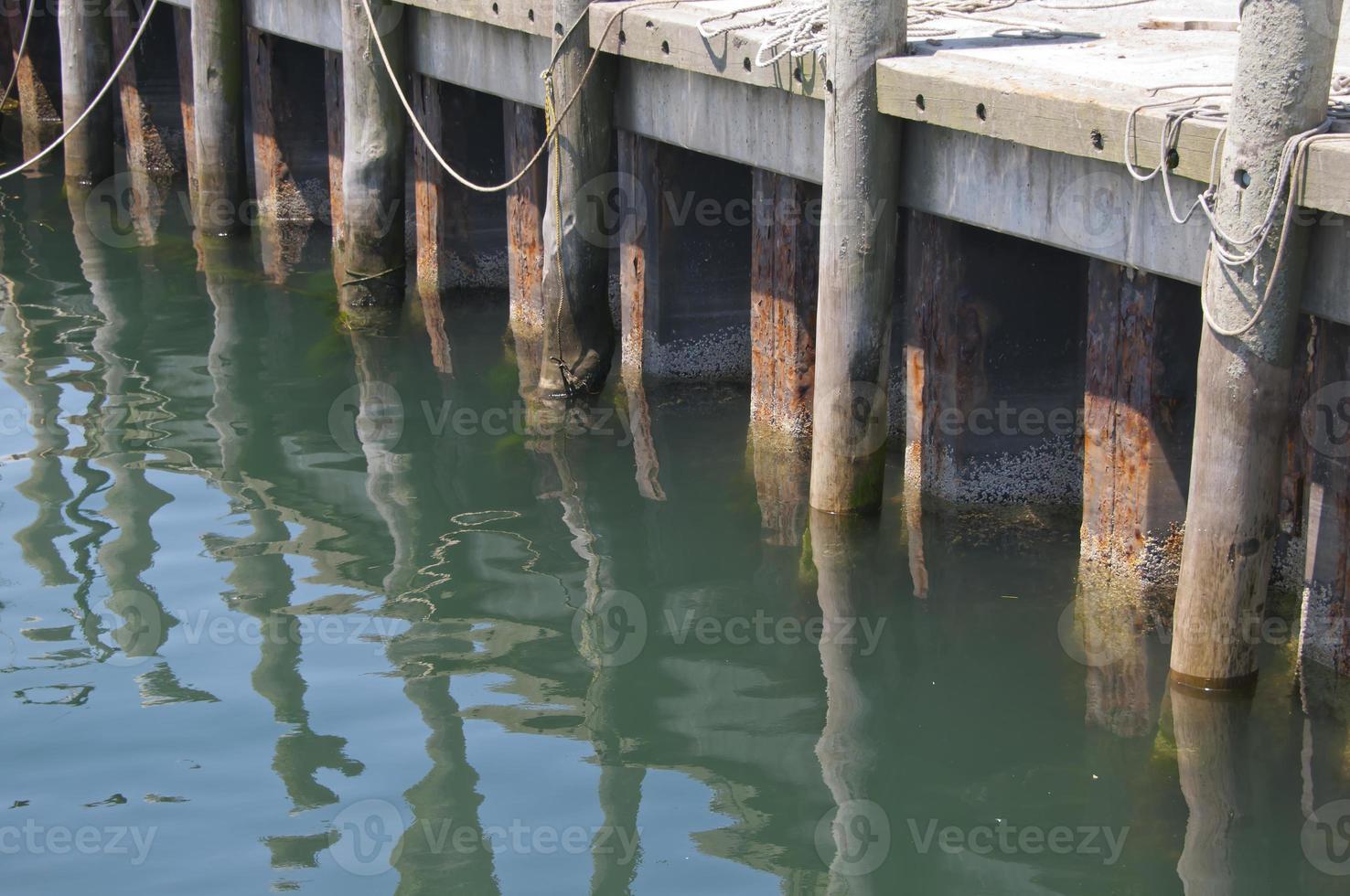 Molo del pescatore a Newport, Ri, Stati Uniti d'America foto