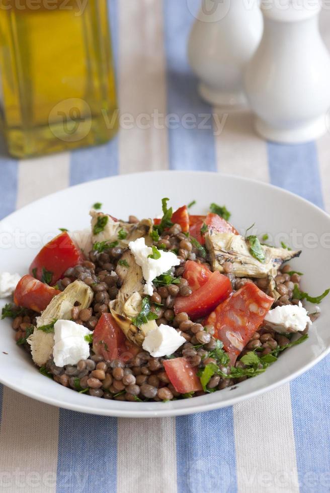 insalata di lenticchie foto