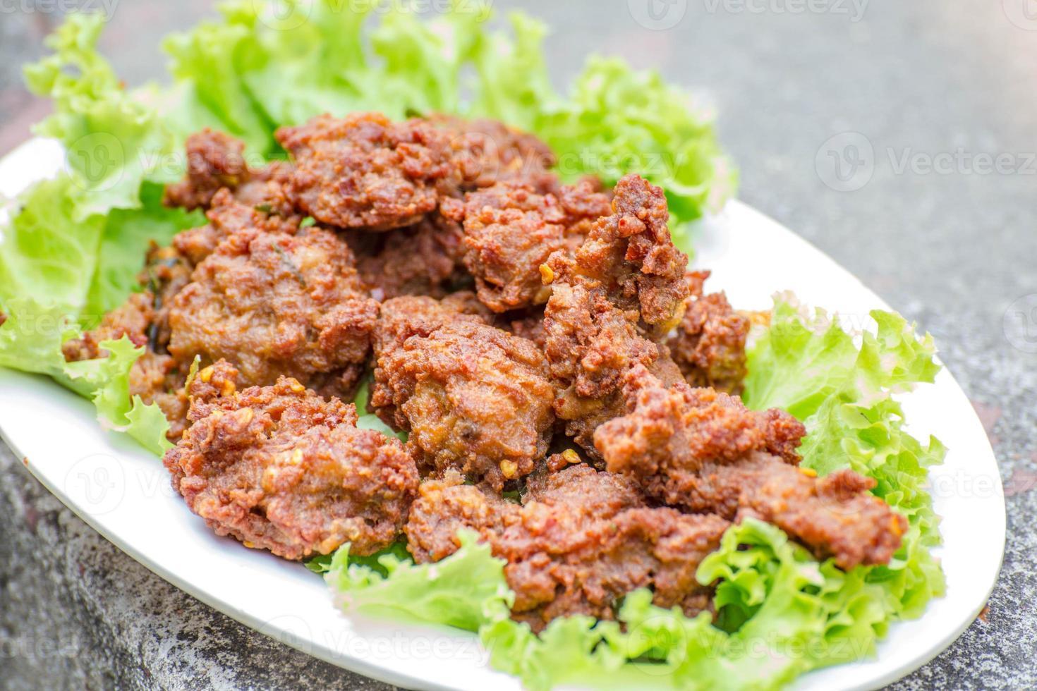 carne di maiale all'aglio foto