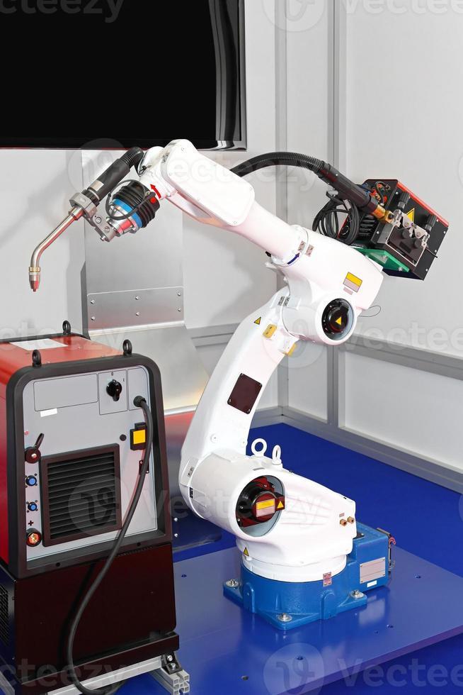 robot di saldatura foto