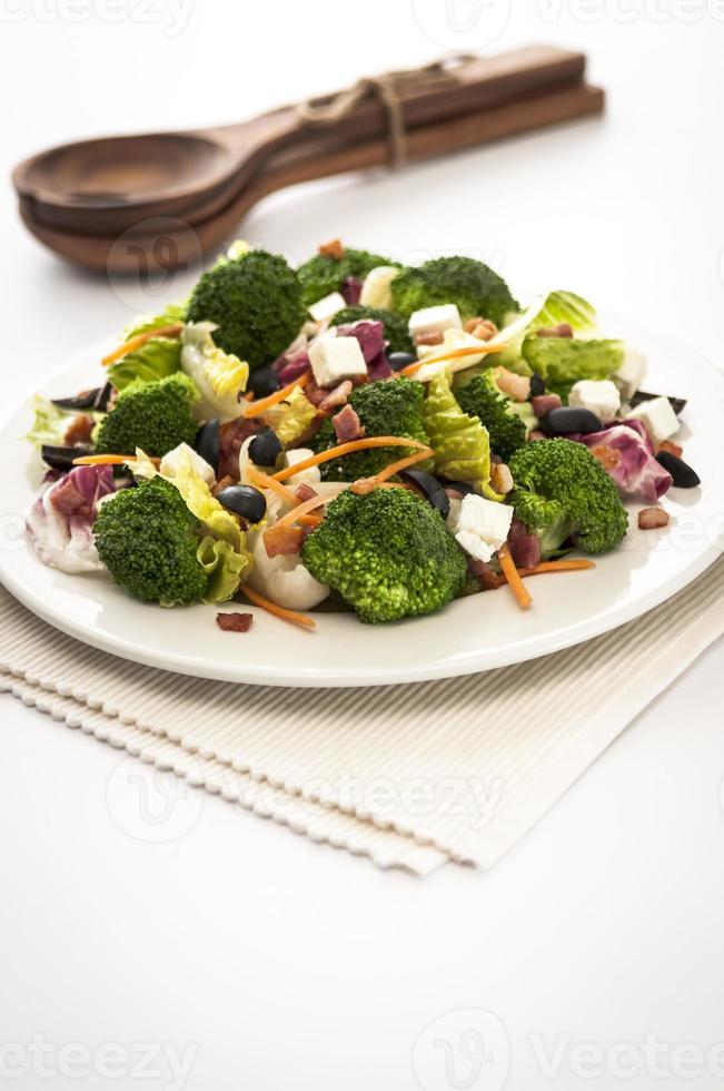 brocoli e insalata di feta foto