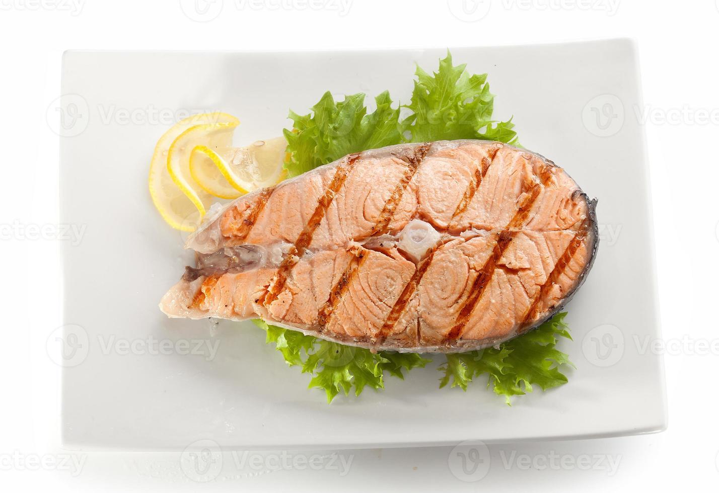 paletto di salmone alla griglia foto