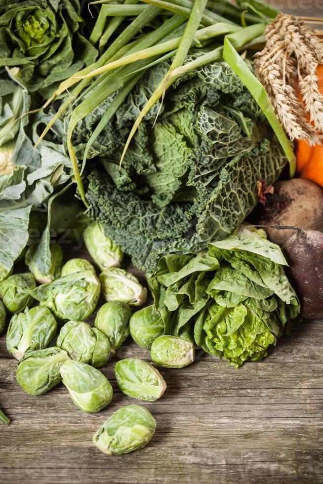 assortimento di verdure verdi foto