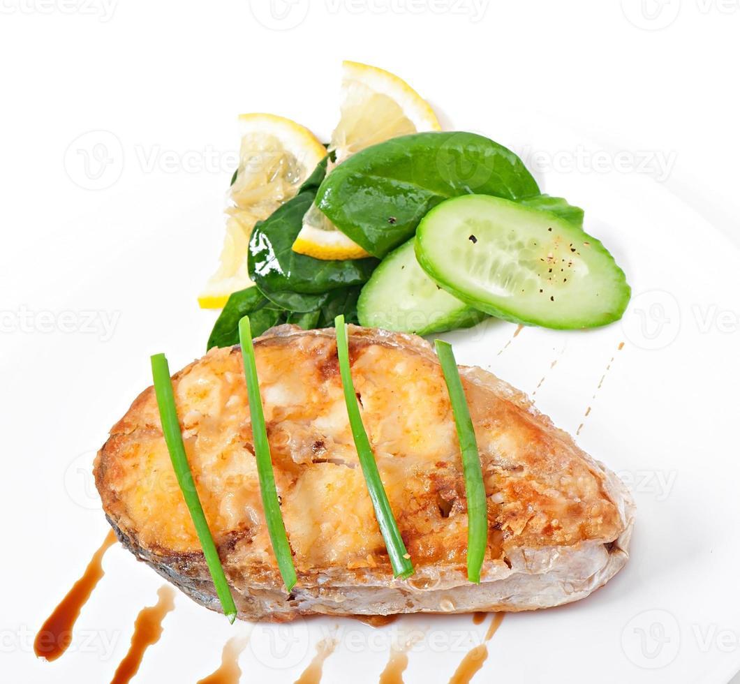 piatto di pesce - filetto fritto foto