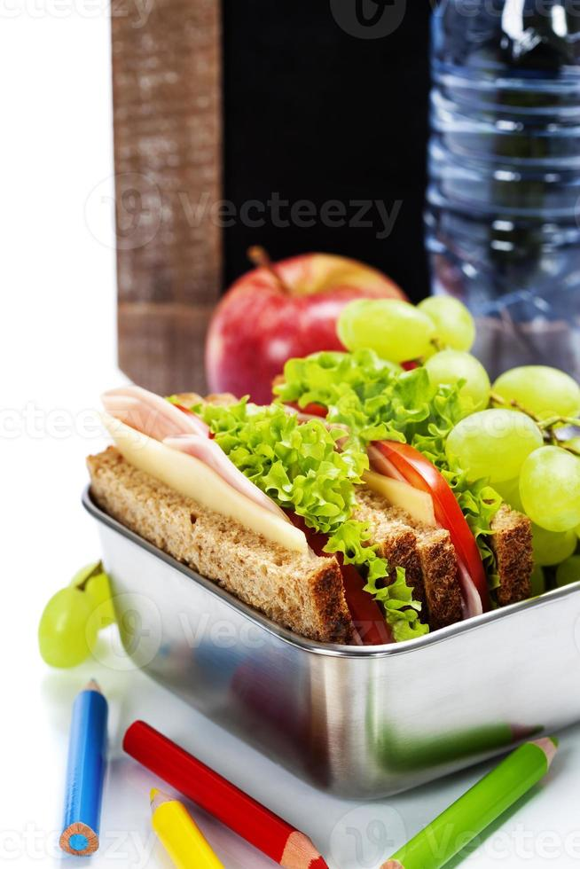 pranzo di scuola foto