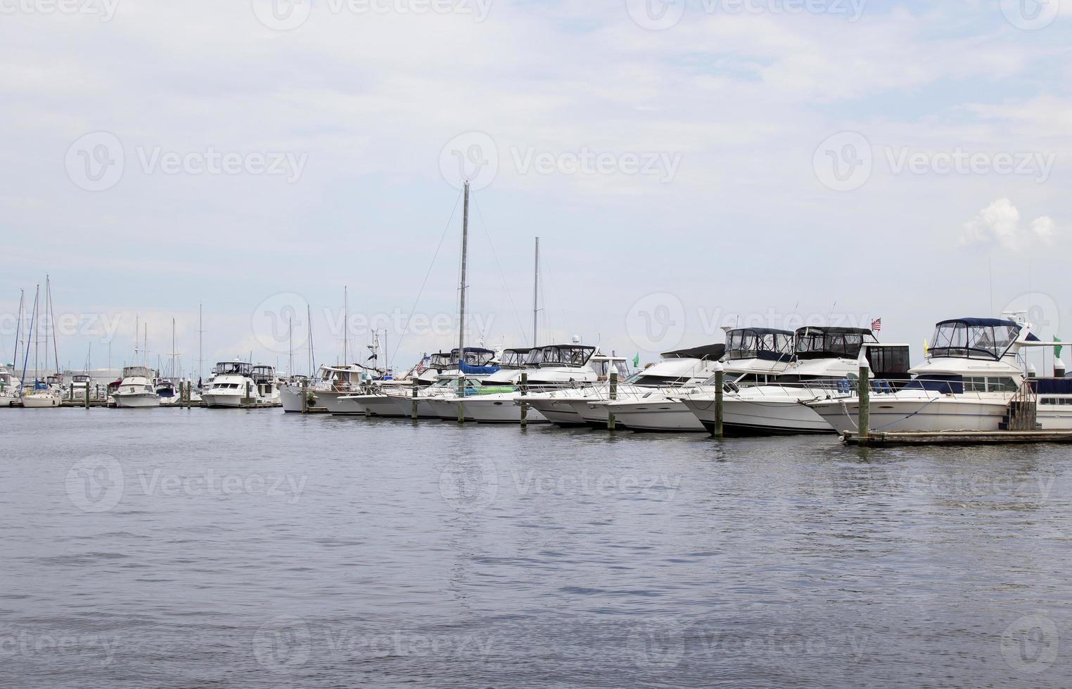 barche attraccate a Baltimora, md foto