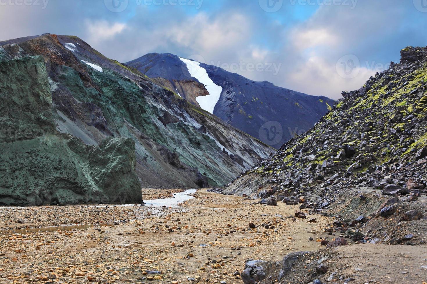 la roccia e il ruscello foto