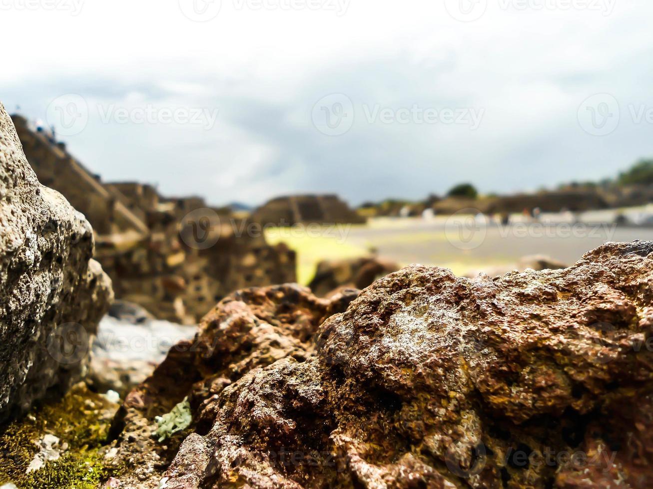 roccia vulcanica messicana preispanica foto