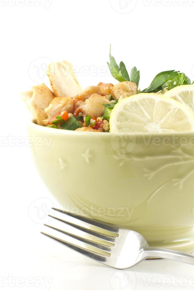 insalata di tabbouleh di pollo foto