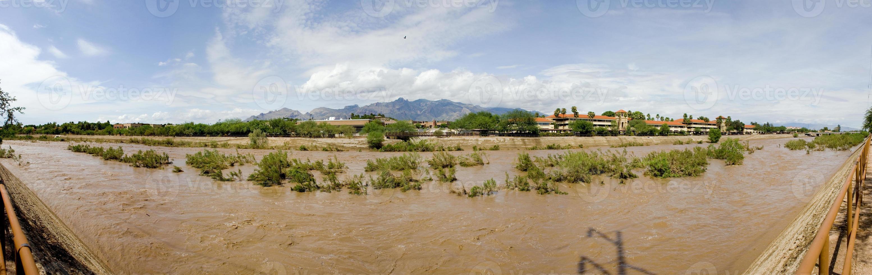 panorama del fiume rillito. foto