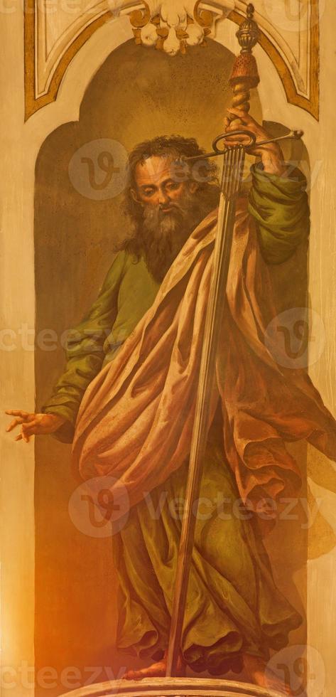 siviglia - affresco di st. Paolo apostolo foto