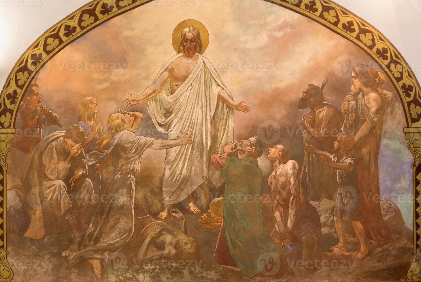 banska bela - l'affresco della guarigione di Cristo foto