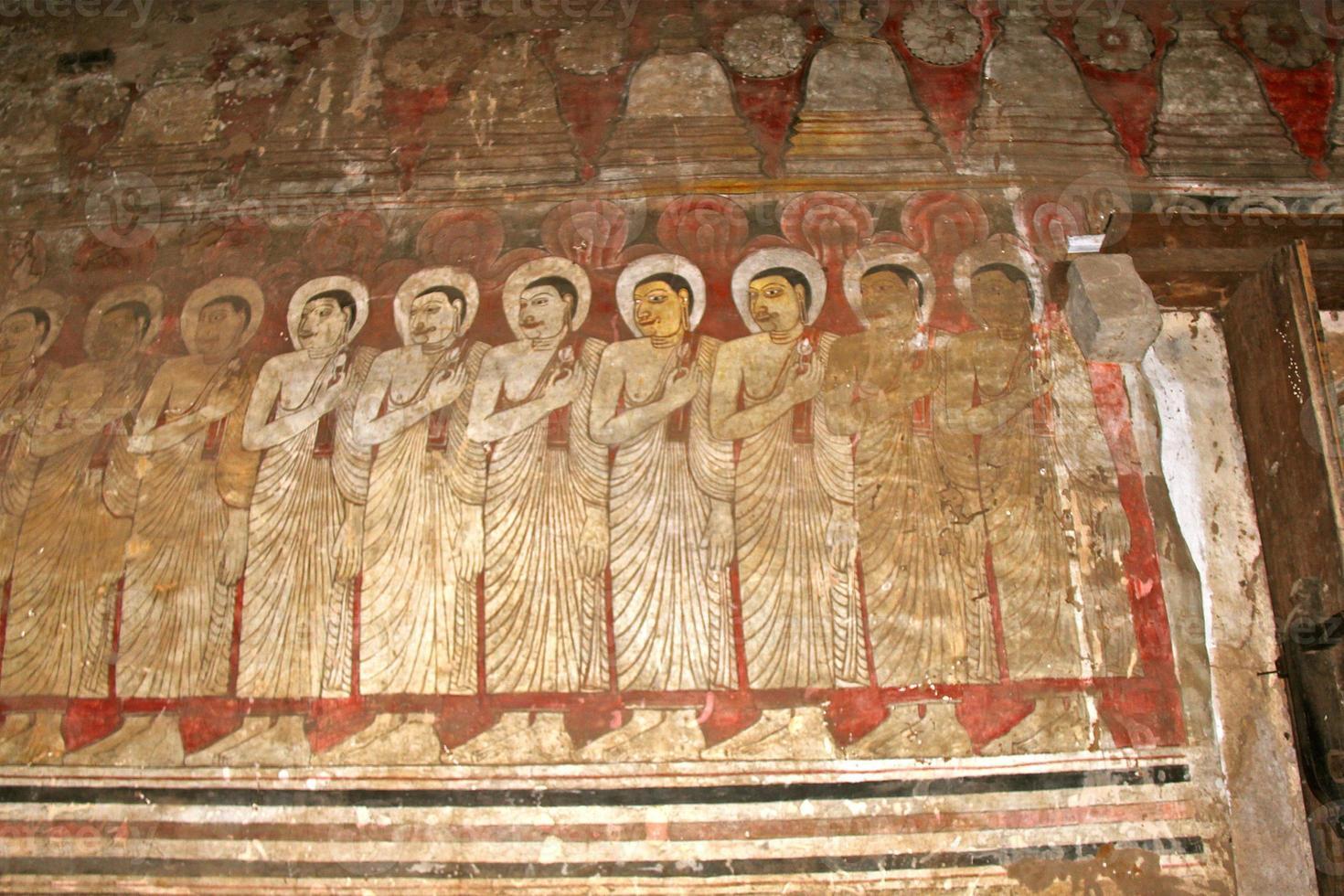 affreschi murali di dambulla foto