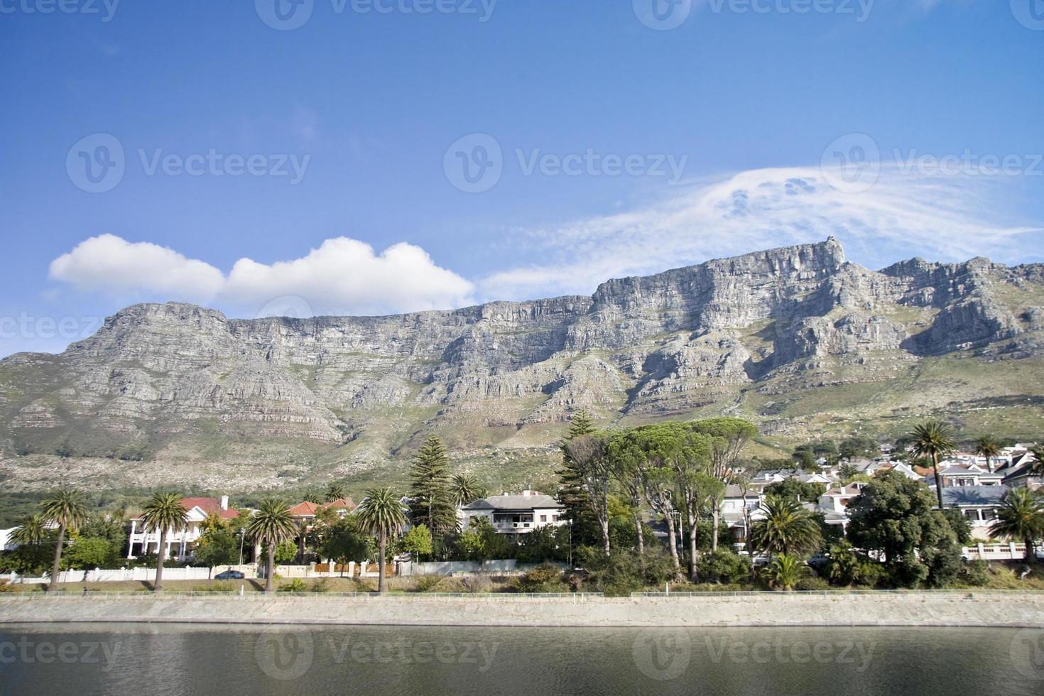 tabella vista sulle montagne dal serbatoio foto