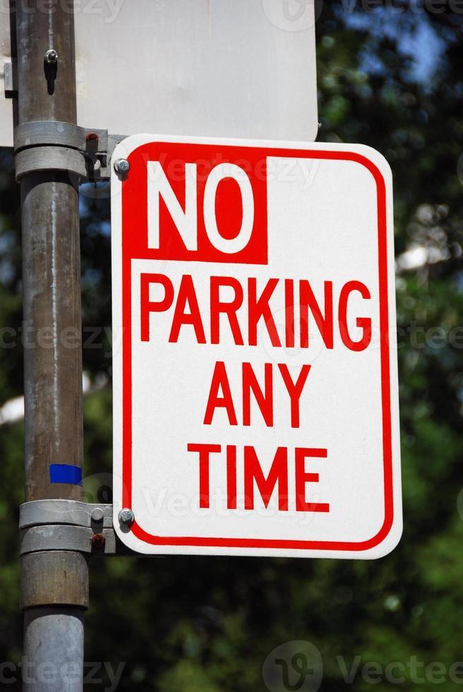 nessun parcheggio in qualsiasi momento foto