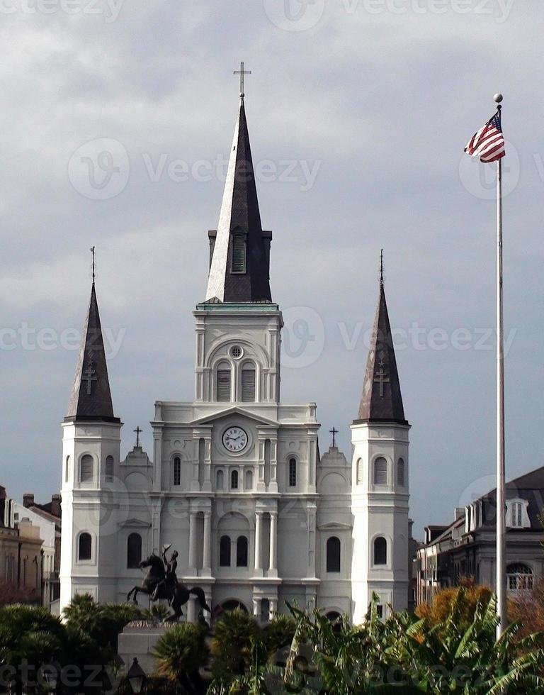 st. Louis Cathedral, in Jackson Square New Orleans foto