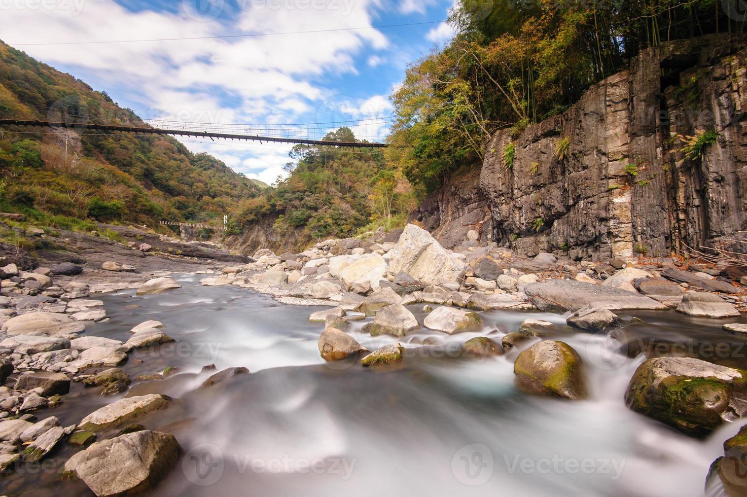 fiume che scorre veloce foto