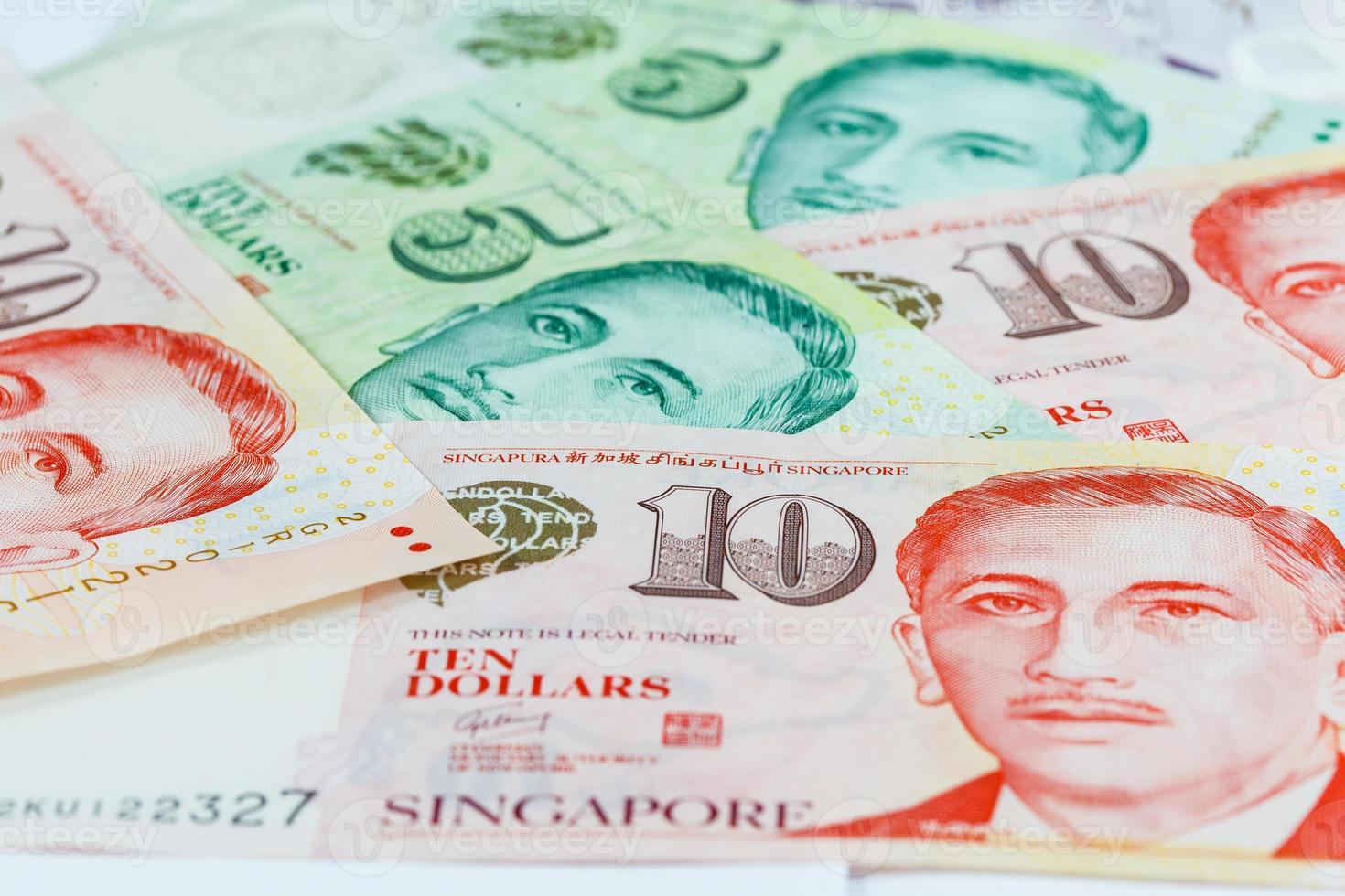 nota dei dollari di Singapore foto