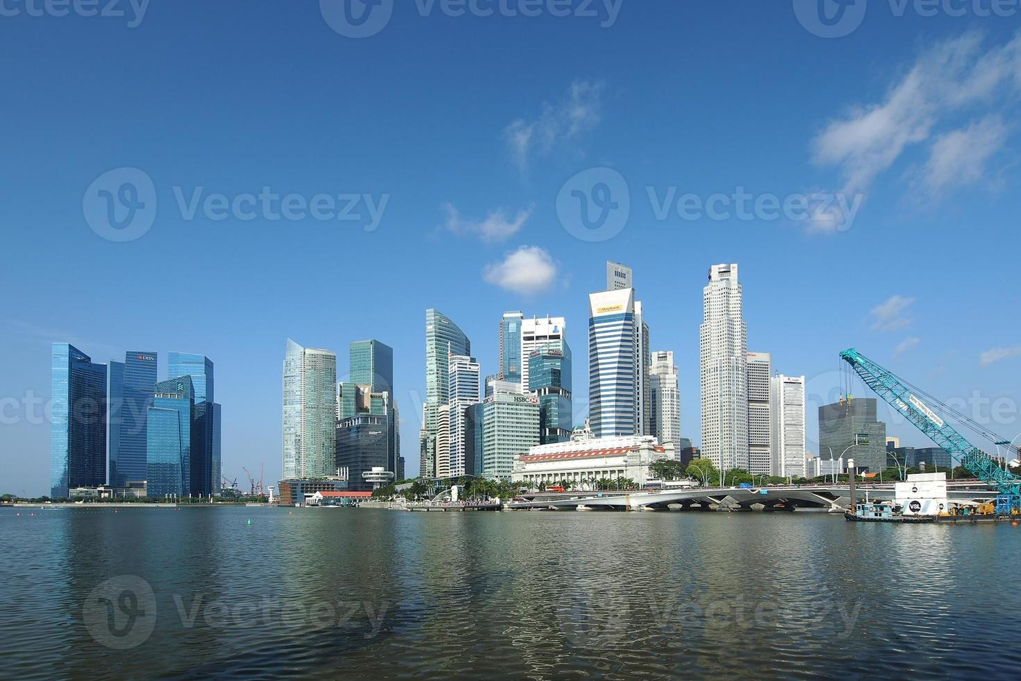 distretto centrale degli affari di Singapore foto