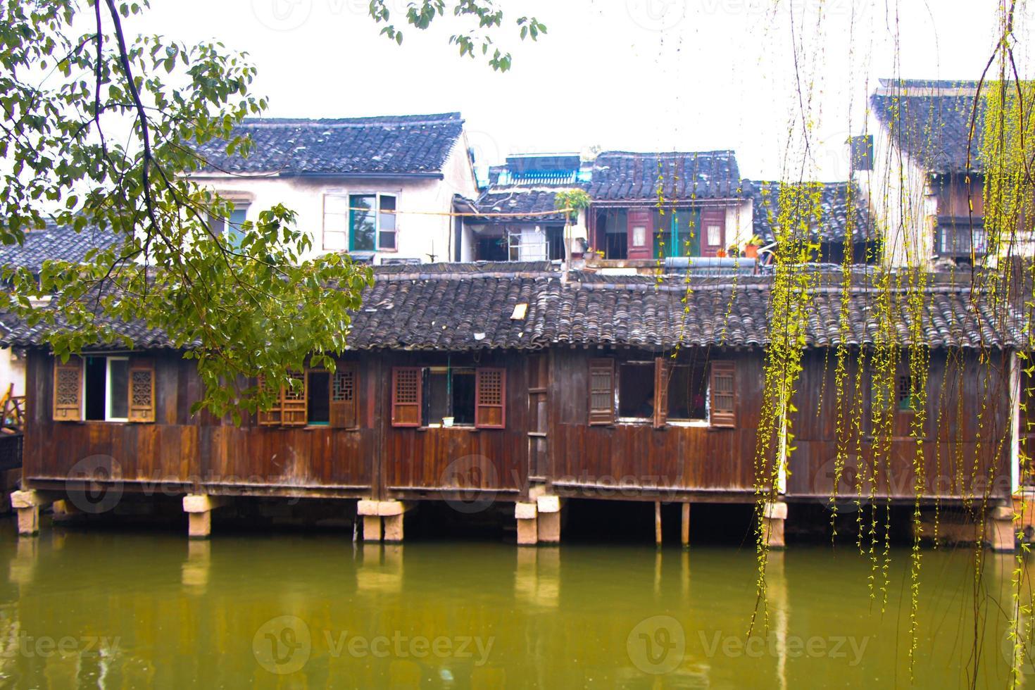 bellissima città cinese dell'acqua foto