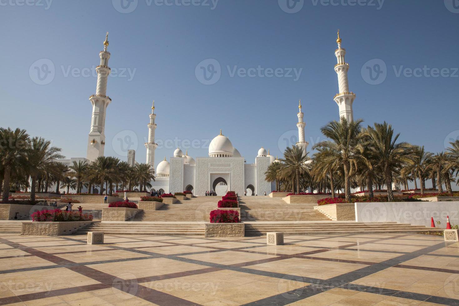 moschea dello sceicco zayed, abu dhabi, emirati arabi uniti foto