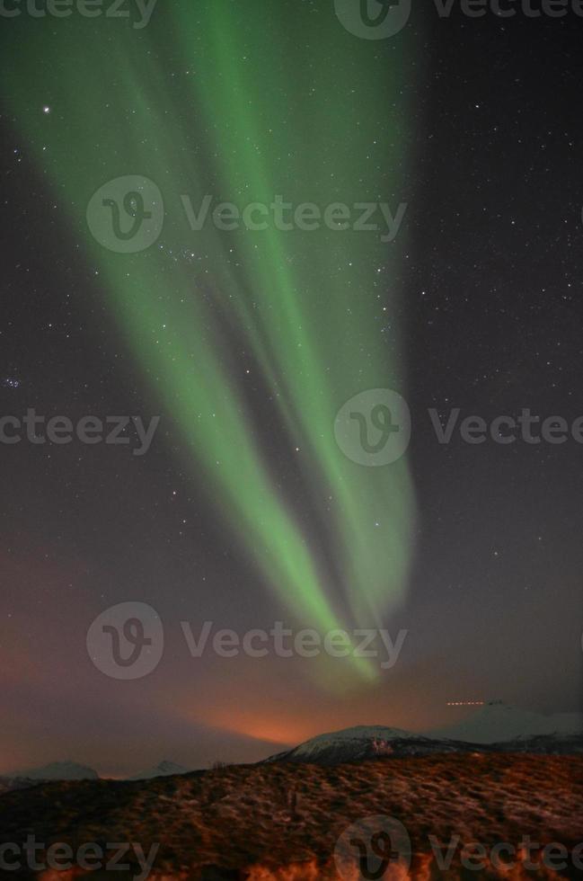 aurora boreale nel nord della Norvegia foto