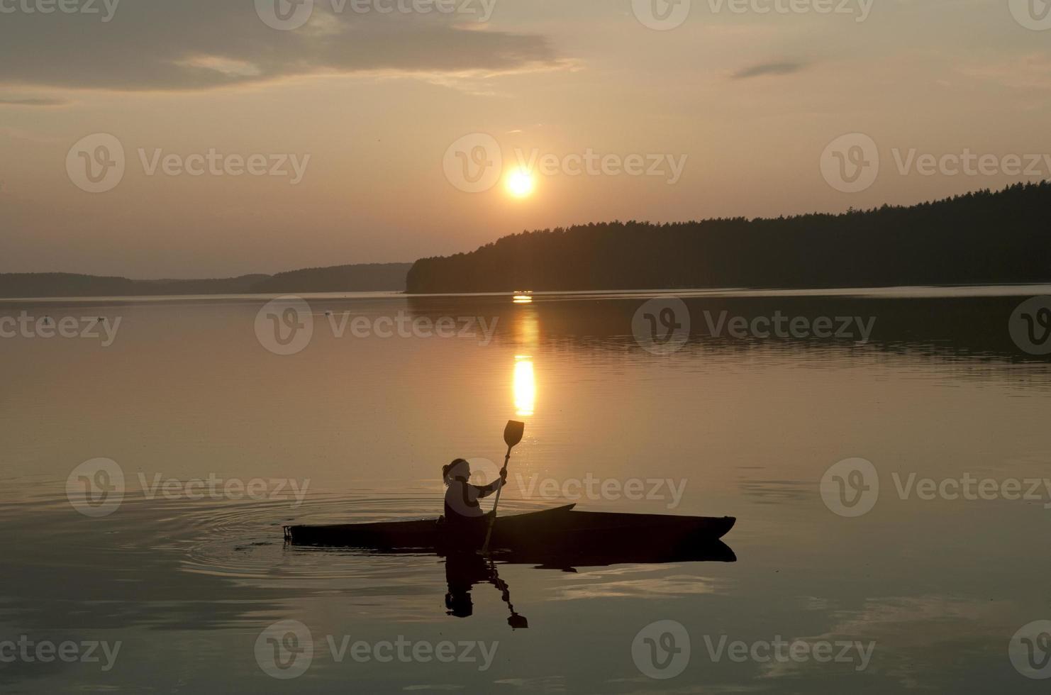 kayak al tramonto foto