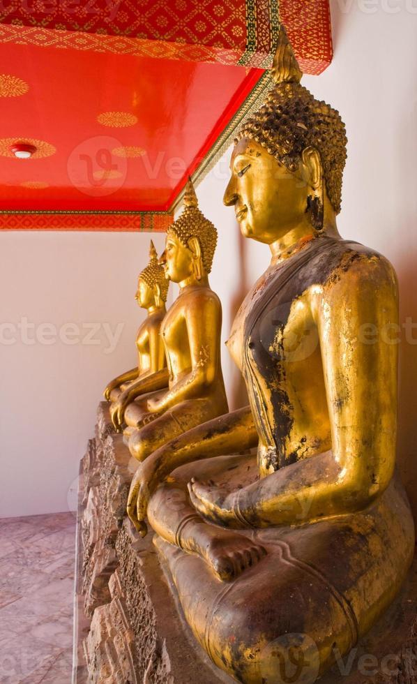 statua di Buddha in fila foto
