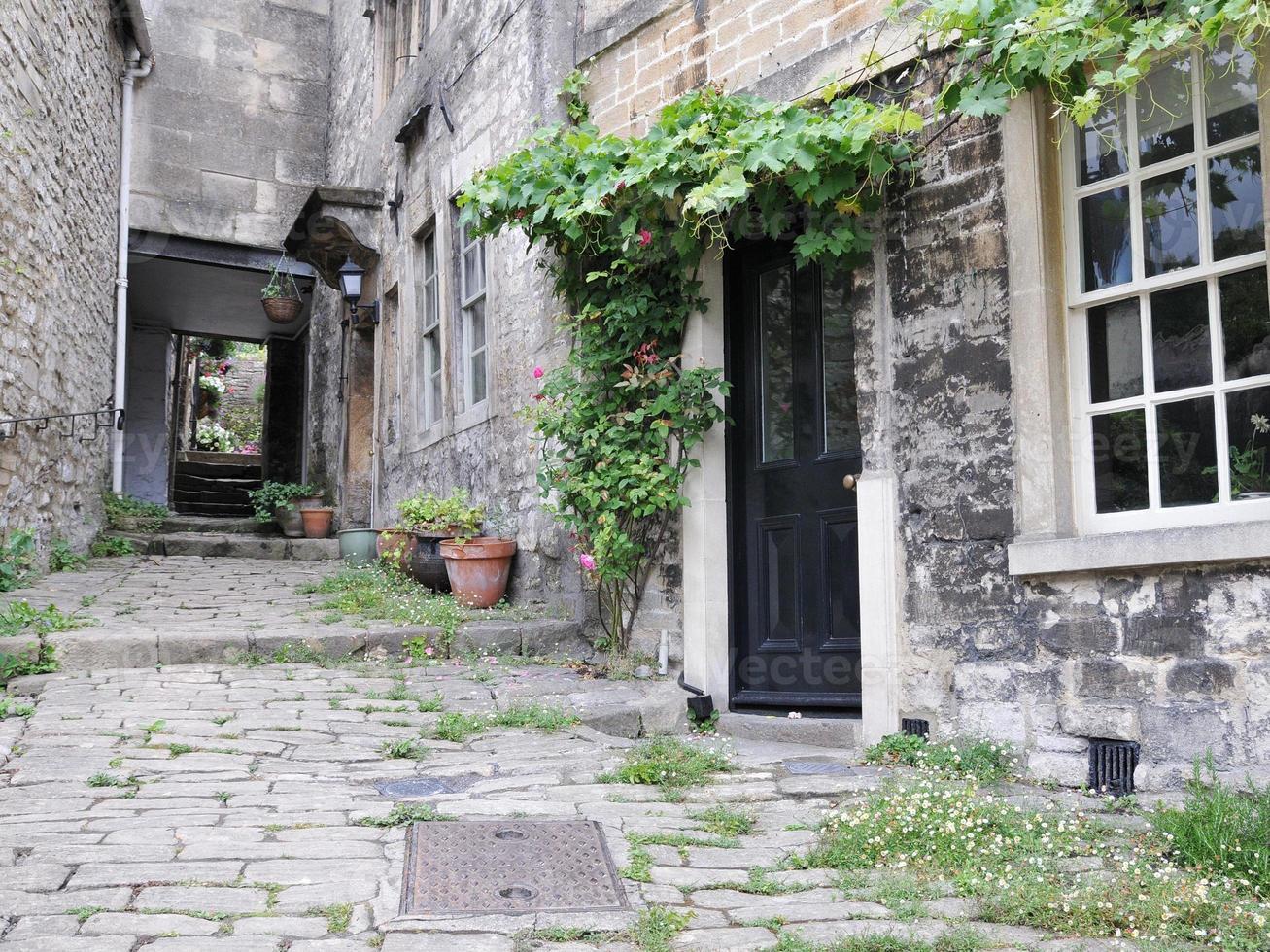 vecchie case a schiera foto