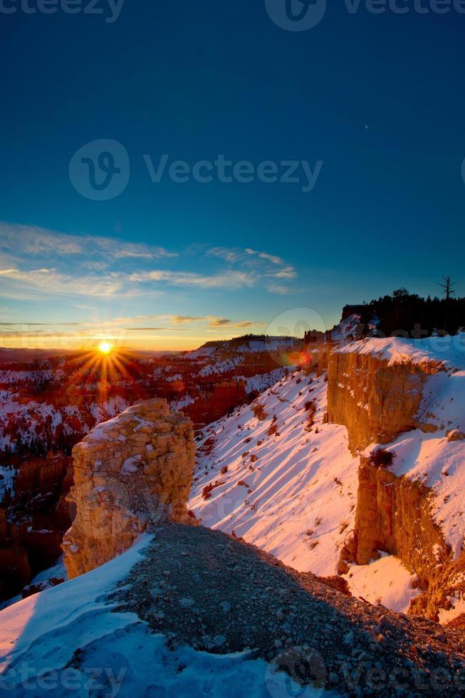 alba invernale di Bryce foto