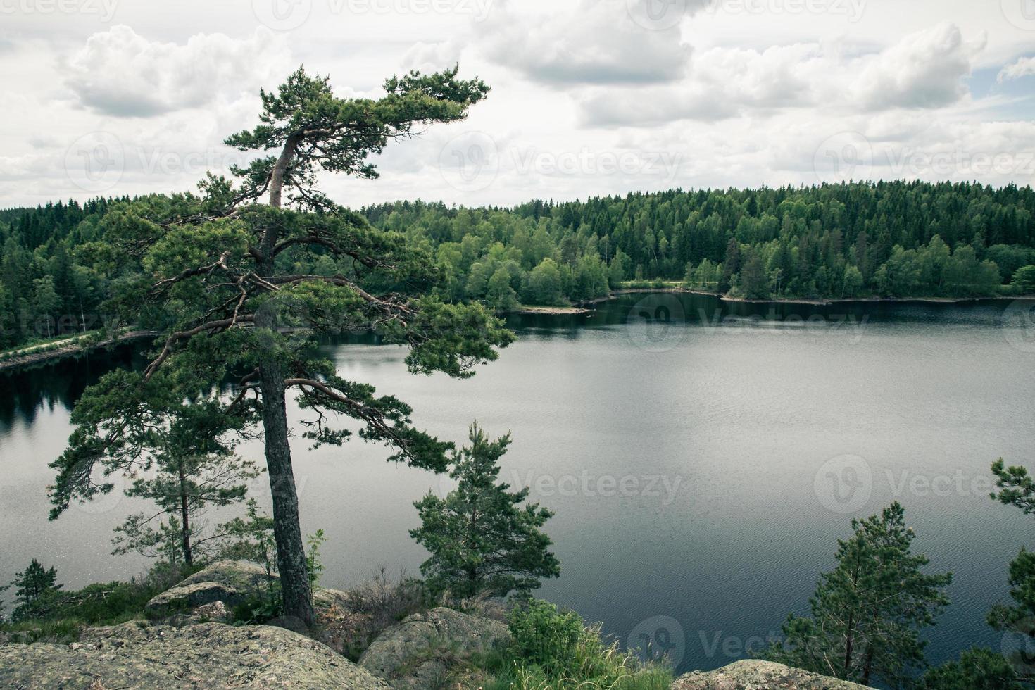 vista lago svedese foto