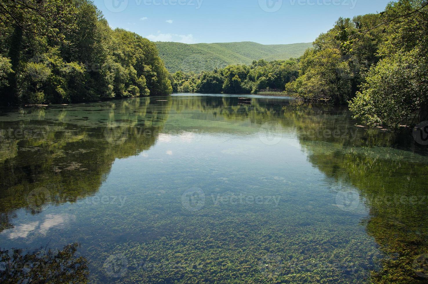 chiaro lago della foresta foto