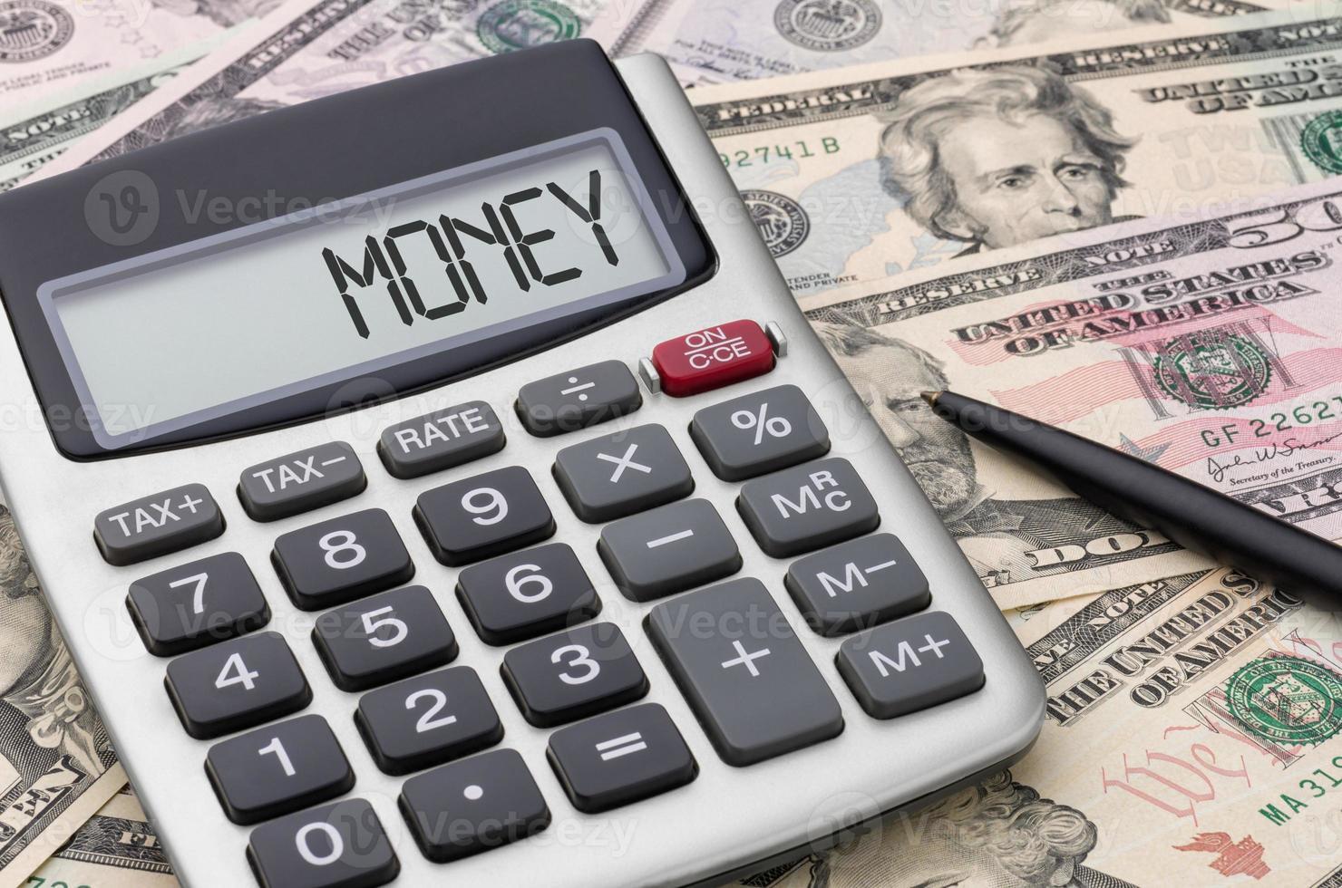 calcolatrice con soldi - soldi foto